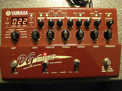 YAMAHA DG STOMP GUITAR PREAMP STEREO + EFFECTS +MIDI+ Recording TOP Zustand