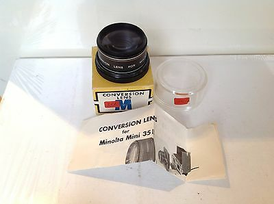 Boxed Conversion Lens for Minolta Mini 35 Projector, instructions