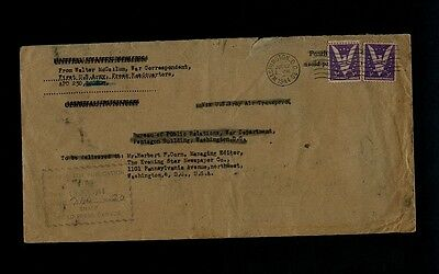 D-Day Dispatch Envelope from War Corresondent Walter McCallum of Evening Star