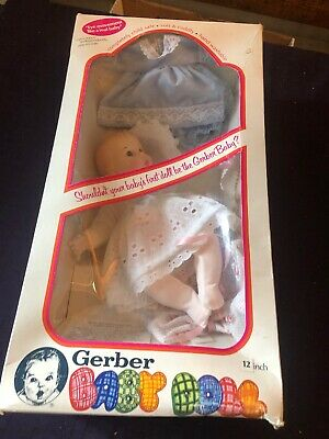 """Vintage Gerber Baby Doll 12"""" 1979(Eyes Move Independently Side To Side)    Nib"""