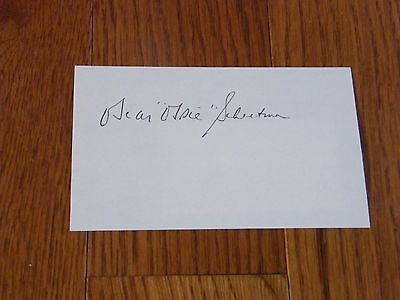 Ossie Schectman Autographed Index Card First NBA Basket Hand Signed RARE