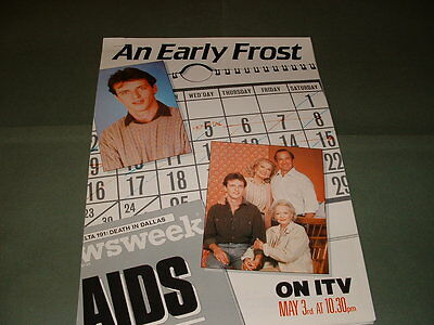 Aidan Quinn Gena Rowlands An Early Frost UK 1986 Central TV Publicity