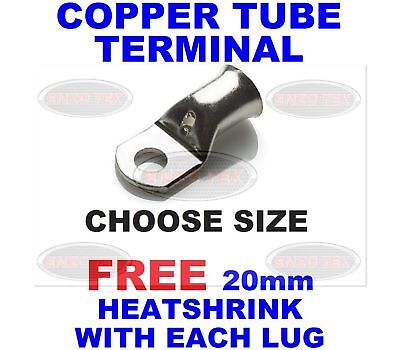 Copper Tube Terminals / Eyelet / Battery / Starter / Ring / Lug / All Sizes