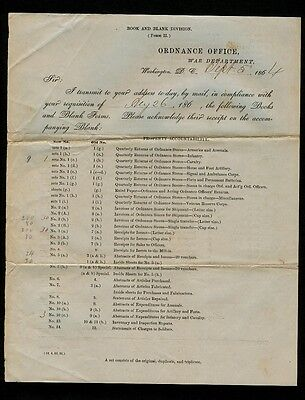 9/5/1864 1st NY Dragoons at Harper's Ferry, VA Lt. A. H. Watts forms requistion