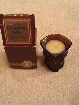 new nib avon brown revolutionary soldier smokers candle 1979 fresh aroma