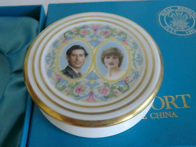 Princess Diana Prince Charles 1981 Royal Wedding Ltd Edt Coalport Trinket Pot