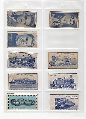 Early Vintage Cigarette Cards -  Various Plain Backed ( Mainly Turf )