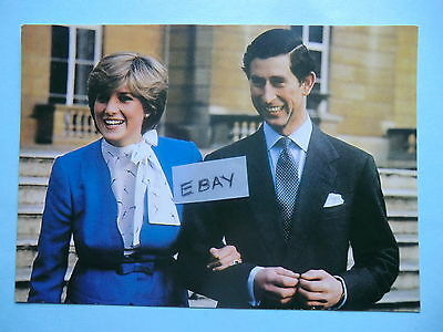 1981 Royal Wedding / Engagement Princess Diana Prince Charles Postcard
