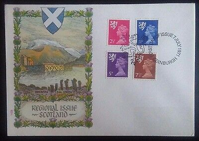1971 Scotland definatives first day cover.