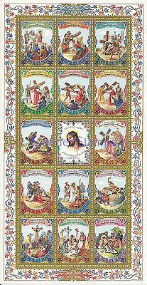 Lesotho 1985 Easter - The 14 Stations of the Cross Sheet. MNH