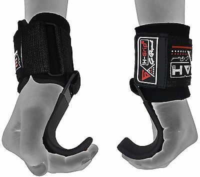 EMRAH Pro Weight Lifting Training Gym Hook Grips Straps Gloves Wrist Support - X