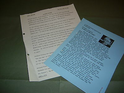 Rare Rediffusion & Thames TV Wilfred Pickles 1968 & 1970 UK Press Releases