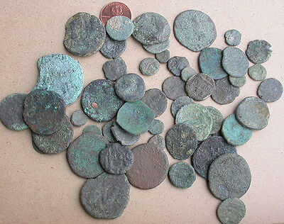 Mixed Lot of 50 Ancient Greek, Roman and Byzantine Coins