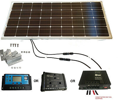 100W Solar Panel kit 12V battery Charger 20A dual Controller Caravan Boat MPPT