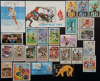 Thematic Collection Olympics & Commonwealth Games Stamps & M/ Sheet Mint & Used