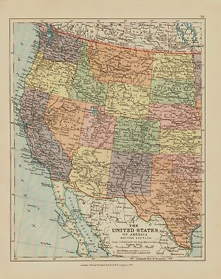 Edward Stanford Map  1920 .usa .western Section