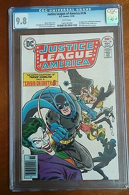 The Justice League of America #136 9.8 white pages classic joker cover & 1st app