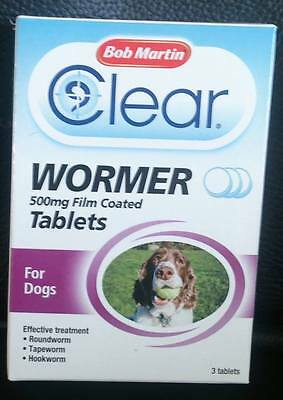 Bob martins clear wormer tablets for dogs  ( BARGAIN  X3 boxes )