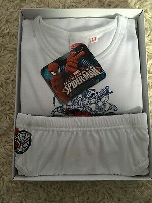 New Boys Kids Marvel  Ultimate Spiderman Underwear  Undershirt Set Size 6/7 NIB