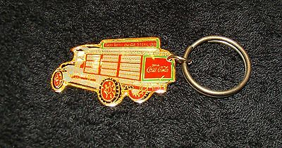 Coca Cola - 1930's Delivery Truck Shaped Keychain - Dated 1987 - Coke