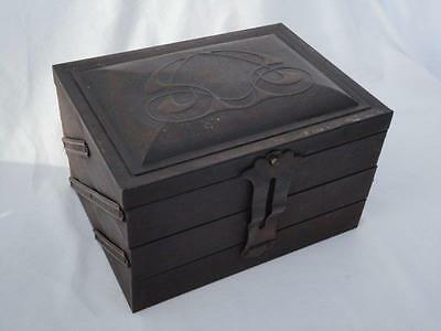 Vintage Crumpsall Biscuits Three Tiered Sewing Box Tin Collectable