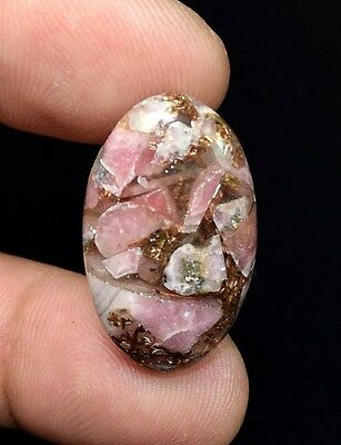 Excellent !  20.80 Cts. Natural Copper Rhodochrosite  Oval Cab For  Pendant
