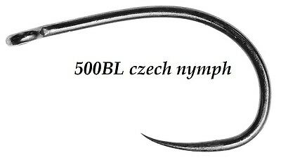 25) 500BL #10 CZECH made CZECH NYMPH, CHIRONOMID, EGG & SCUD fly tying hooks