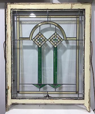 Antique Leaded Stained Glass Window from Chicago Bungalow