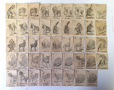 Antique Lot of Lion Coffee K Cards Old Maid Animals 44 Trade Cards Total 1890's