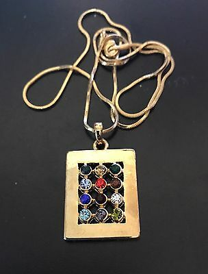 Jewish Messianic Hoshen Pendant High Priest Breastplate Necklace Tribes Israel