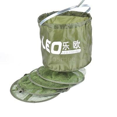 Fish Net Cage Fishing Tackle Care Creel 5 Layers Collapsible Useful Q3H8