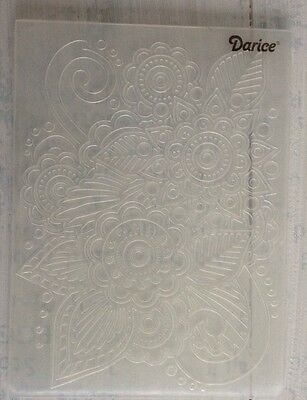 Darice embossing folder Flowers, scrolls, Asian style. Cards, crafts, art etc.