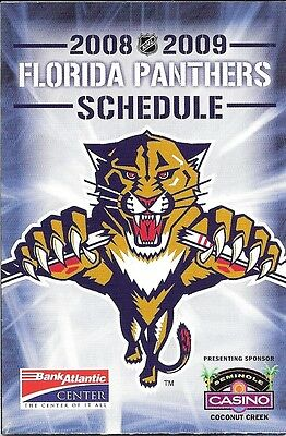2008-09 Nhl Hockey Schedule - Florida Panthers