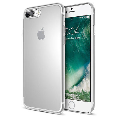 For New Apple iPhone 7 Plus Slim Transparent Clear Silicone Gel Case Cover Skin