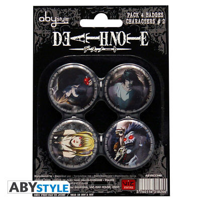 Death Note Characters Button Set