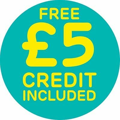 EE 4G Pay As You Go Multi SIM Card (Standard, micro & Nano) + £5 credit Included