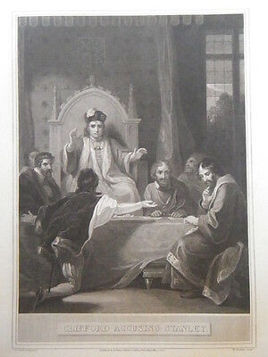 """R. Bowyer Print of """"Clifford Accusing Stanley."""" 1805"""