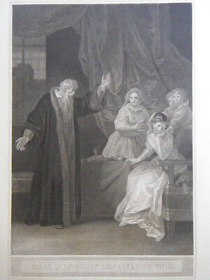 """R. Bowyer Print of """"Mary Q. Of Scots Reproved By Knox."""" 1800"""