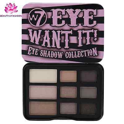 Palette  Fards Ombres A Paupières W7 Eye Want It  Maquillage Neuf