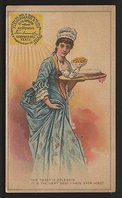 Fleischmann & Co.'s Compressed Yeast - Woman with Serving Tray