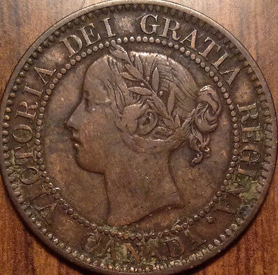 1859 Low 9 Variety Canada Large Cent!