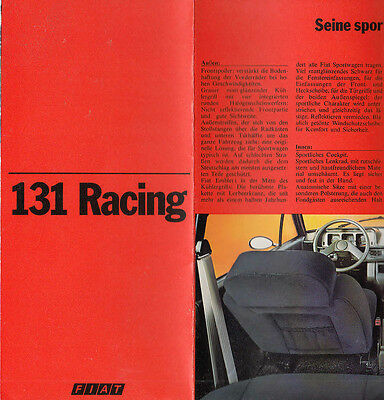 Fiat 131 Racing, Fold Out Brochure.