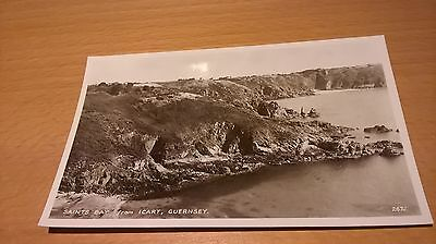 An old Postcard. Saints Bay from Icart, Guernsey, Channel Islands