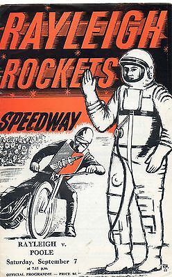 Rayleigh v Poole speedway programme - 7/9/63