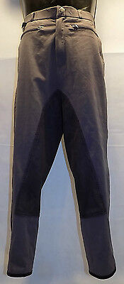 "Mens Feroti Sport Jodhpurs Equestrian Riding Breeches Grey Size 36"" 38"" 40"""