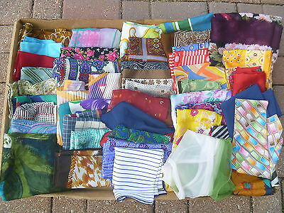 SCARVES SCARF 45 LOT LADIES FLOWERS GEOMETRIC PATTERNS ABSTRACT VARIETY styles