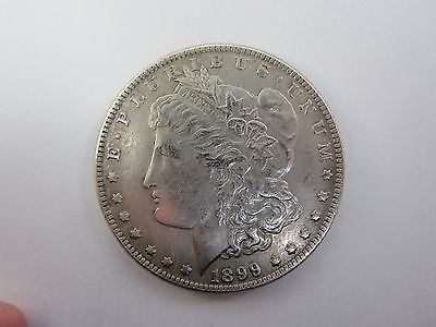 Morgan Dollar 1899 - Two Face Trick / Magic Coin - Double Heads