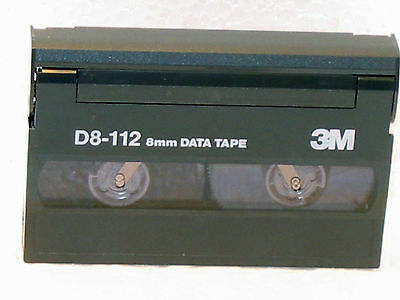3M Data Tape D8-112 - 8mm - Total of 5 Cassettes - Used only once -