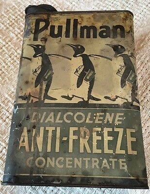 Antique Automobile Anti-Freeze Can Circa 1910 Pullman Penguins