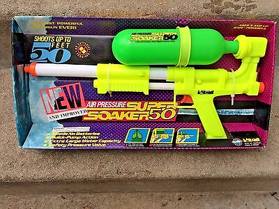 LARAMI Super Soaker 50 Squirt Gun Vintage 1990's NEW  Never Removed from Box